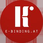 e-binding Buchbinderei Konzett Logo